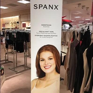 Slim Spanx Sign Freestanding Branding