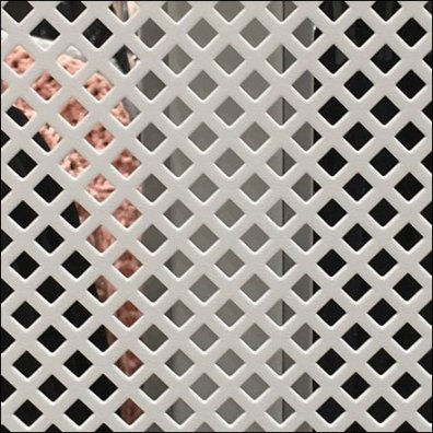 Square Perforated Metal Apparel Faceout Rack Aux