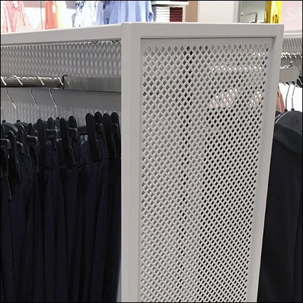 Perforated Metal Framework for Apparel Faceouts