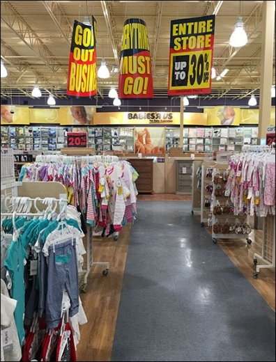 Store Closing Signs At Babies R Us