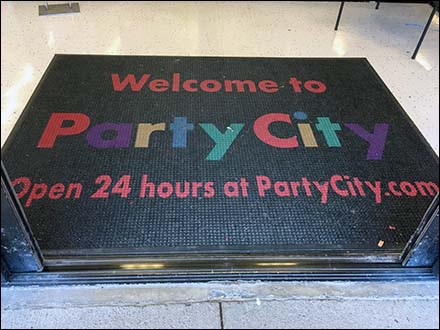 Welcome to Party City Online Entry Mat
