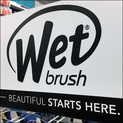 Wet Brush Freestanding Display Feature