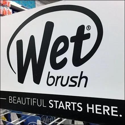 Wet Brush Freestanding Display Feature