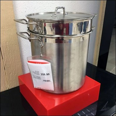 Macys All Star All Clad Cookware Display