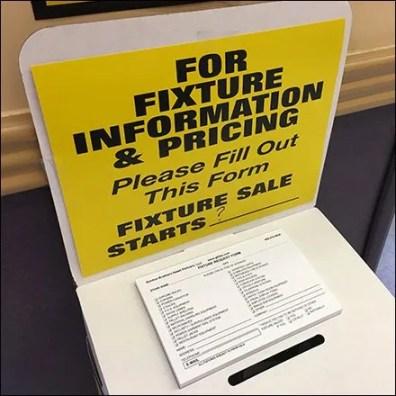 Babies-R-Us Fixtures For Sale Ballot Box