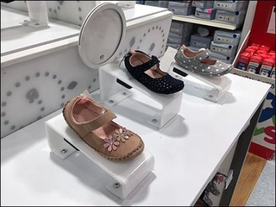 Baby Shoe Risers Permanently Mounted