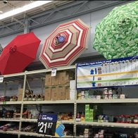 Beach Umbrella Sales Overhead in Retail