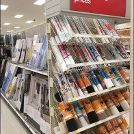 Shelf Paper Endcap Rack Declined Display