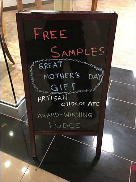 Free Chocolate Mother's Day Gift Samples Easel