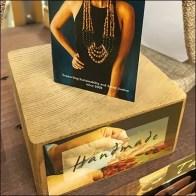 Handmade Wood Business Card Pedestal