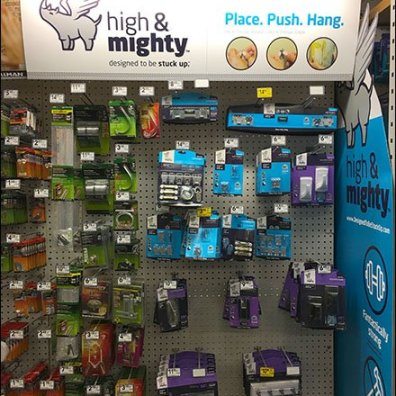 High and Mighty Command Strip Substitute Display