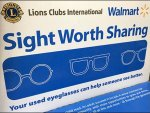 Eyeglass Donations Ballot Box At Walmart