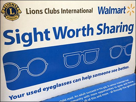 Walmart Store Fixtures - Eyeglass Donations Ballot Box At Walmart
