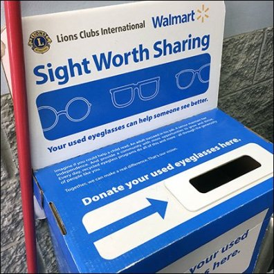 Lions Club Sight Worth Sharing Eyeglass Donations Feature
