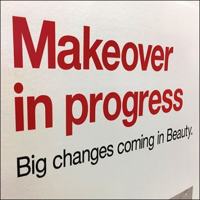 Makeover In Progress Construction Sign