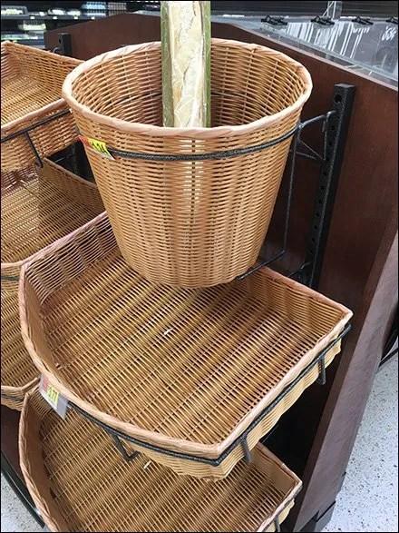 Wicker Basket Mounts In Oversize Hoop
