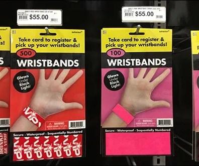 Wrist Band Pick Card Wall Scan Hooks
