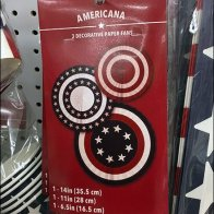 Americana Patriotic Partyware Pegboard Display
