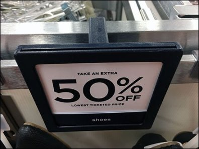 Apparel Bar Merchandiser Sign Holder