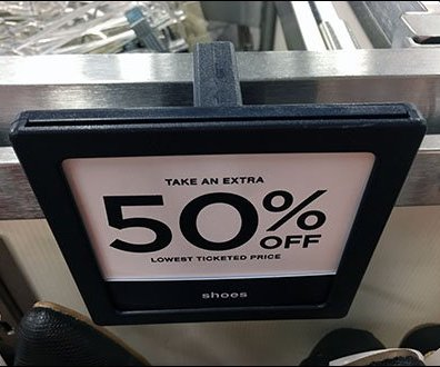 Apparel Bar Merchandiser Sign Holder