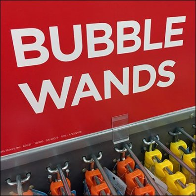 Mass Bubble Wand Merchandising By All Wire Hook