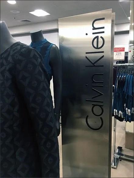 Calvin Klein Retail Fixtures - Calvin Klein Stainless Steel Upright Branding