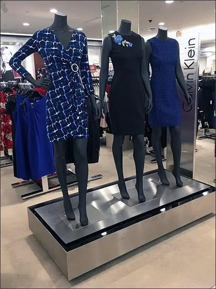 Fashion Runway in Retail - Calvin Klein Stainless Steel Runway Branding