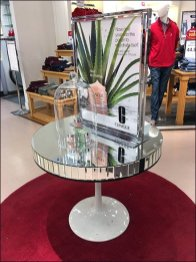 Clinique Mirrored Table Display at Bon-Ton