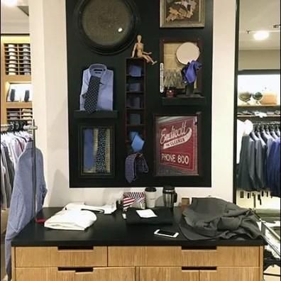 Men's Designer Necktie Display In-Store