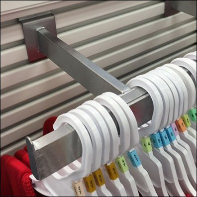 Double Arm Clothes Rack For Slatwall Endcap