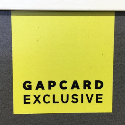 Gap Card Exclusive Logo
