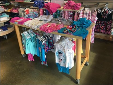 Gymboree Under-Table Hangrail Merchandising