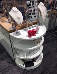 Half-Height Half-Round Shelf Unit