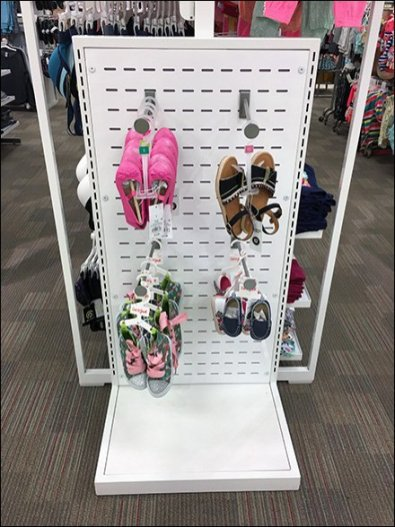 Half-Height Slotwall Faceouts For Footwear