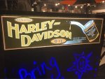 Harley-Davidson Black Light Window Sign Header