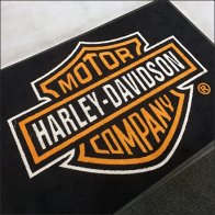 Harley-Davidson Branded Welcome Mat Feature