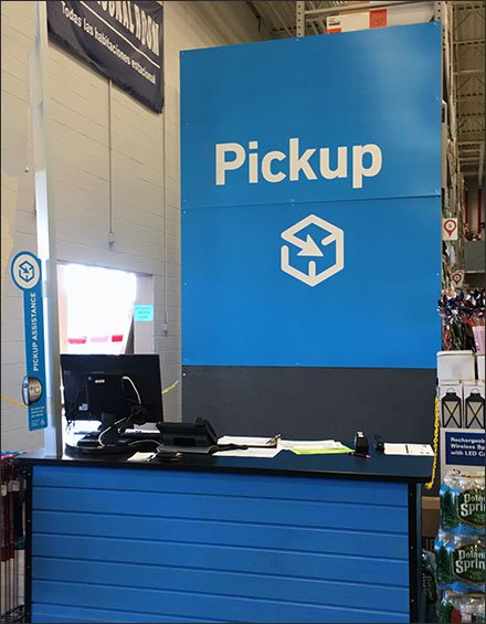 Online Pickup Service Counter Credentials