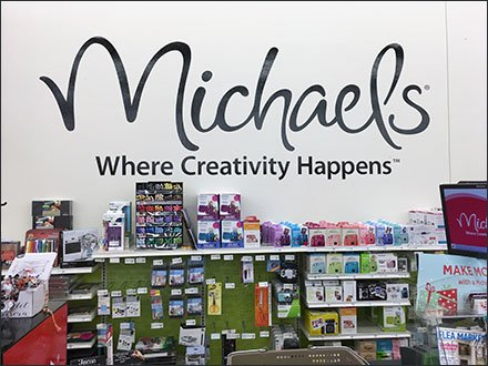 Michaels Retail Fixtures - Michaels Where Creativity Happens Store Branding