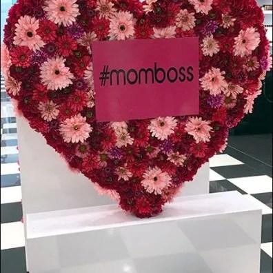 #MomBoss Heart-Shaped Floral Wreath