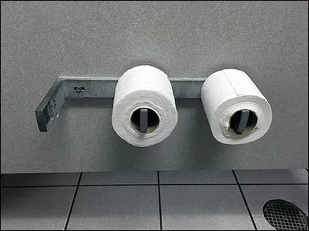 Basic Bare-Bones Two Roll Toilet Paper Holder