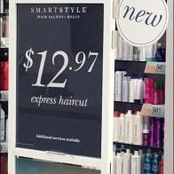 Salon Express Haircut Signage Specials