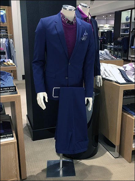 Suit With Two Trouser Up-Sell Display