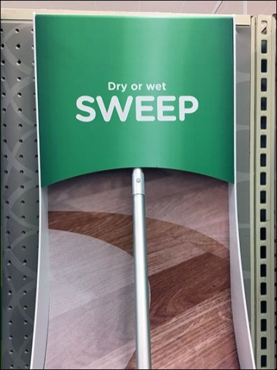 Swiffer Sweeper Curved Display For Pegboard Fixtures