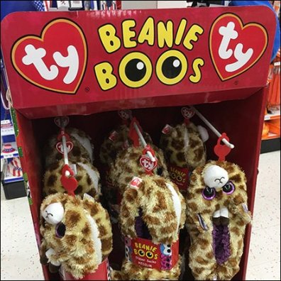 Ty Beanie Boos Plush Slippers Display
