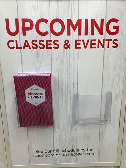 Michaels Upcoming Classes Brochure Holder