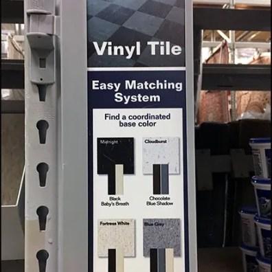 Vinyl Tile Flooring Easy Matching System