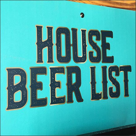 Viva Farms House Beer List Entry Sign Feature