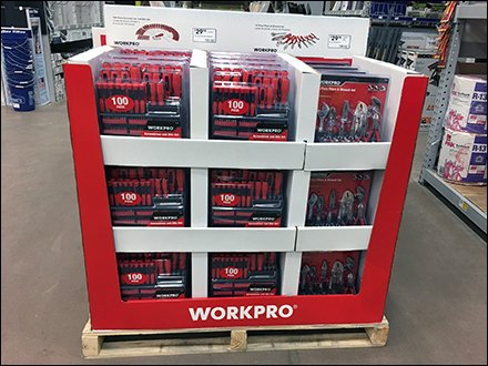 Workpro Tool Set Merchandising Is Base 10