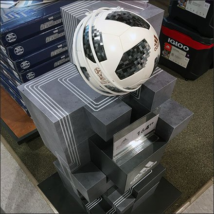 Adidas Soccer Ball Ziggurat Tower