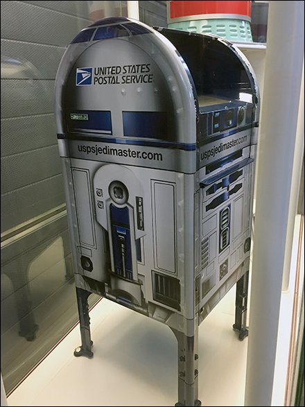 United States Postal Service Outfitting R2D2 Mailbox